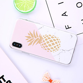 abordables Coques d'iPhone-Coque Pour Apple iPhone XR / iPhone XS Max Motif Coque Bande dessinée / Fruit / Marbre Flexible TPU pour iPhone XS / iPhone XR / iPhone XS Max