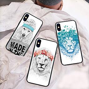 levne Pouzdra iPhone XS-Carcasă Pro Apple iPhone XR / iPhone XS Max Vzor Zadní kryt Zvíře / Komiks / Lev Pevné Akrylát pro iPhone XS / iPhone XR / iPhone XS Max