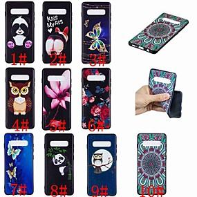 voordelige Galaxy S7 Hoesjes / covers-hoesje Voor Samsung Galaxy S9 / S9 Plus / S8 Plus Patroon Achterkant Vlinder / Uil / Panda Zacht TPU