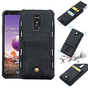 cheap LG-Case For LG LG Stylo 4 / V30 Wallet / Card Holder / Shockproof Back Cover Solid Colored Soft PU Leather for LG Q Stylus / LG V30 / LG Stylo 4