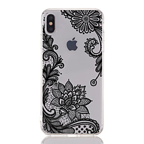 cheap Daily Deals-Case For Apple iPhone XS / iPhone XR / iPhone XS Max Transparent / Pattern Back Cover Lace Printing / Flower Soft TPU
