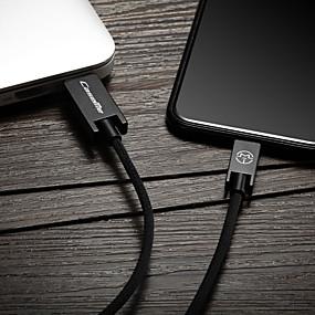 halpa Google-C-tyypin Kaapeli 1m-1.99m / 3ft-6ft Punottu / pikalataus Nylon USB-kaapelisovitin Käyttötarkoitus Samsung / Huawei / LG