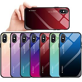 levne iPhone pouzdra-Carcasă Pro Apple iPhone X / iPhone 8 / iPhone 8 Plus Nárazuvzdorné / Prachuodolné Zadní kryt Zářící barvy Pevné TPU / Tvrzené sklo pro iPhone XS / iPhone XR / iPhone XS Max