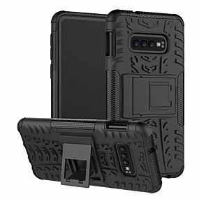 halpa Galaxy S -sarjan kotelot / kuoret-Etui Käyttötarkoitus Samsung Galaxy Galaxy S10 / Galaxy S10 Plus Iskunkestävä / Tuella Takakuori Yhtenäinen / Geometrinen printti Kova TPU varten S9 / S9 Plus / S8 Plus