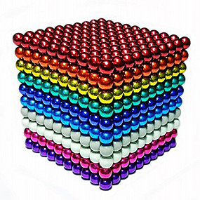 cheap Toy & Game-216/648/1000 pcs 3mm Magnet Toy Magnetic Balls Building Blocks Super Strong Rare-Earth Magnets Neodymium Magnet Stress and Anxiety Relief Focus Toy Office Desk Toys Kid's / Adults' / Intermediate