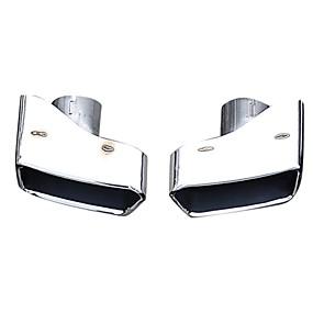 billige Car Body Decoration & Protection-Factory OEM 2pcs Udstødning Tailpipe Tips Sej Lyddæmpere Til BMW 535i 2010 / 2011 / 2012