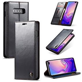 Недорогие Чехлы и кейсы для Galaxy S5 Mini-Кейс для Назначение SSamsung Galaxy S9 / S9 Plus / S8 Plus Кошелек / Бумажник для карт / со стендом Чехол Однотонный Твердый Кожа PU