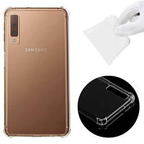 voordelige Galaxy A7(2016) Hoesjes / covers-hoesje Voor Samsung Galaxy A6 (2018) / A6+ (2018) / Galaxy A7(2018) Schokbestendig / Transparant Achterkant Effen Zacht TPU
