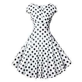 06844ec81ee9 billige Daglige tilbud-Dame Vintage 1950  039 erne A-linje Kjole -