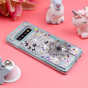 voordelige Galaxy S7 Edge Hoesjes / covers-hoesje Voor Samsung Galaxy S9 / S9 Plus / S8 Plus Schokbestendig / Stromende vloeistof / Patroon Achterkant Glitterglans / Paardebloem Zacht TPU