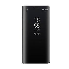 hesapli Galaxy S Serisi Kılıfları / Kapakları-Pouzdro Uyumluluk Samsung Galaxy Galaxy S10 / Galaxy S10 Plus Satandlı / Kaplama / Ayna Tam Kaplama Kılıf Solid Sert PU Deri için S9 / S9 Plus / S8 Plus