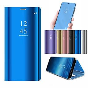 billige Samsung Galaxy S10-Etui Til Samsung Galaxy Galaxy S10 / Galaxy S10 Plus Med stativ / Belægning / Spejl Fuldt etui Ensfarvet Hårdt PC for S9 / S9 Plus / S8 Plus