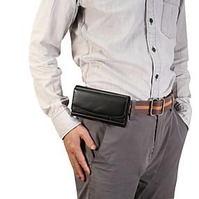 olcso iPhone tokok-Case Kompatibilitás Blackberry / Apple / Samsung Galaxy Univerzalno Sport karszalag / Kártyatartó Csomag derékra / Erszény Egyszínű Puha PU bőr mert Univerzalno