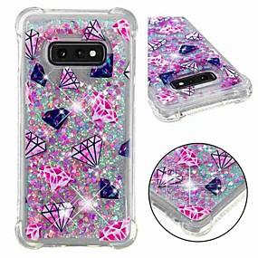 economico Custodie / cover per Galaxy serie S-Custodia Per Samsung Galaxy S9 Plus / S8 Resistente agli urti / Liquido a cascata / Transparente Per retro Paesaggi / Glitterato Morbido TPU per S9 / S9 Plus / S8 Plus