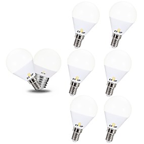 ieftine Becuri LED Glob-EXUP® 6pcs 5 W Bulb LED Glob 450 lm E14 E26 / E27 G45 12 LED-uri de margele SMD 2835 220-240 V 110-130 V