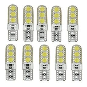 billige Side Marker Lights-10pcs T10 Bil Elpærer 1 W SMD 5050 60-100 lm 6 LED Side Marker Lights Til