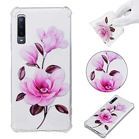 voordelige Galaxy A7(2016) Hoesjes / covers-hoesje Voor Samsung Galaxy A6 (2018) / A6+ (2018) / Galaxy A7(2018) Schokbestendig / Transparant / Patroon Achterkant Bloem Zacht TPU