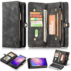 voordelige Galaxy S7 Hoesjes / covers-hoesje Voor Samsung Galaxy S9 / S9 Plus / S8 Plus Portemonnee / Kaarthouder / met standaard Volledig hoesje Effen Hard PU-nahka