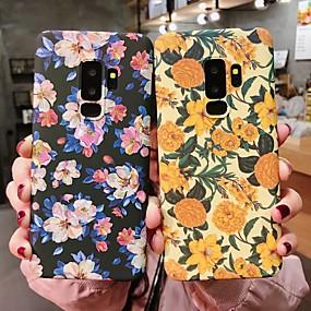 olcso Galaxy S tokok-Case Kompatibilitás Samsung Galaxy Galaxy S10 / Galaxy S10 Plus Foszforeszkáló Fekete tok Virág Kemény PC mert S9 / S9 Plus / S8 Plus