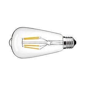 Χαμηλού Κόστους Λαμπτήρες LED με νήμα πυράκτωσης-1pc 4 W LED Λάμπες Πυράκτωσης 360 lm E26 / E27 ST64 4 LED χάντρες COB Με ροοστάτη Θερμό Λευκό Ψυχρό Λευκό Φυσικό Λευκό 220-240 V