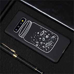 halpa Galaxy S -sarjan kotelot / kuoret-Etui Käyttötarkoitus Samsung Galaxy Galaxy S10 / Galaxy S10 Plus Himmeä / Kuvio Takakuori Taivas Pehmeä TPU varten S9 / S9 Plus / S8 Plus