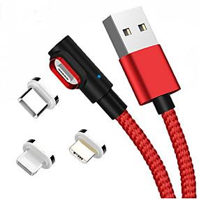 olcso Google-Micro USB / Világítás / C típusú Kábel 1m-1.99m / 3ft-6ft Minden egyben / Fonott Alumínium / Műanyag USB kábeladapter Kompatibilitás Macbook / iPad / Samsung