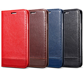 cheap Cases / Covers for Samsung-Case For Samsung Galaxy Galaxy S10 Plus / Galaxy S10 E Card Holder / Flip Full Body Cases Solid Colored Hard PU Leather for S9 / S9 Plus / S8 Plus