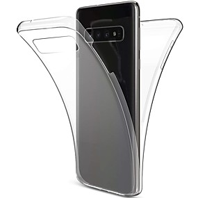 voordelige Galaxy S7 Hoesjes / covers-hoesje Voor Samsung Galaxy S9 / S9 Plus / S8 Plus Schokbestendig / Ultradun / Transparant Volledig hoesje Effen Zacht TPU