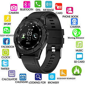 cheap Daily Deals-Kimlink SW98 Men Smartwatch Android Bluetooth Touch Screen Calories Burned Hands-Free Calls Camera Distance Tracking Pedometer Call Reminder Activity Tracker Sleep Tracker Sedentary Reminder / 0.3 MP