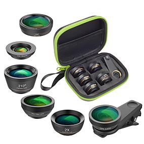 billige Kamera til mobiltelefon-Mobiltelefon Lens Objektiv med filter / Fisheyelinse / Objektiv med lang brennvidde glass / Aluminiumslegering 2X 25 mm 15 m 210 ° Kreativ / Nytt Design