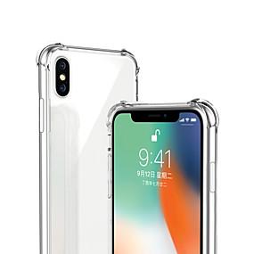abordables Coques d'iPhone-Coque Pour Apple iPhone X / iPhone XS Max Antichoc / Transparente Coque Couleur Pleine Flexible TPU pour iPhone XS / iPhone XR / iPhone XS Max