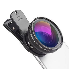 Недорогие Камера мобильного телефона-Объектив для мобильного телефона Широкоугольный объектив / Макролинза стекло / Алюминиевый сплав 12.5X Макро 50 mm 15 m 110 ° Творчество / Cool / Веселая