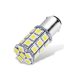economico Luci dei freni-1 pz ba15d 1142 1076 1176 led auto lampadine 12-24 v 5050 27 smd bianco per back up luci di retromarcia luci dei freni luci posteriori