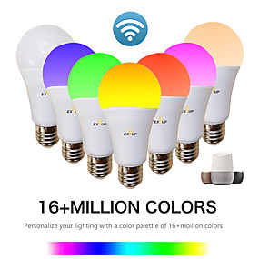 levne LED Smart žárovky-EXUP® 1ks 9 W LED chytré žárovky 810 lm E26 / E27 A60(A19) 34 LED korálky SMD 2835 Kontrola APP Smart Časování RGB a CW 85-265 V