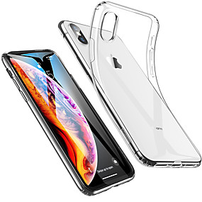 economico Custodie per iPhone-Custodia Per Apple iPhone XS / iPhone XS Max Resistente agli urti / Ultra sottile / Transparente Per retro Tinta unita Morbido TPU per iPhone XS / iPhone XR / iPhone XS Max