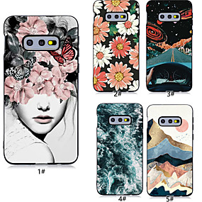 halpa Galaxy S -sarjan kotelot / kuoret-Etui Käyttötarkoitus Samsung Galaxy Galaxy S10 Plus / Galaxy S10 E Kuvio Takakuori Sexy Lady / Kukka Pehmeä TPU varten S9 / S9 Plus / S8 Plus