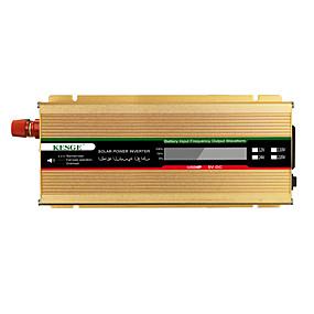 economico Inverter di alimentazione del veicolo-kesge 1500watts dc to ac inverter per auto portatile dc12 / 24-ac220v / 110v con display lcd intelligente power inverter