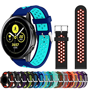 cheap Watch Bands for Samsung-Watch Band for Samsung Galaxy Watch 42 / Samsung Galaxy Active Samsung Galaxy Sport Band Silicone Wrist Strap