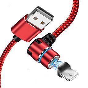 billige Apple-lyn usb kabeladapter flettet / hurtig ladningskabel for iphone 100 cm for acetat / nylon / luminescerende