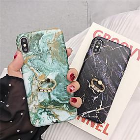 abordables Coques d'iPhone-cas pour apple iphone xr / iphone xs max motif / anneau support arrière marbre soft tpu pour iphone 6 6 plus 6s 6s plus 7 8 7 plus 8 plus x xs