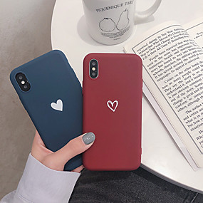 olcso iPhone 7 Plus tokok-CISIC Case Kompatibilitás Apple iPhone XR / iPhone XS Max Ütésálló Fekete tok Szív Puha TPU mert iPhone XR / iPhone XS Max / iPhone X