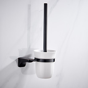 cheap Bathroom Gadgets-toilet brush holder traditional solid brass 1 pc - hotel bath