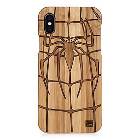 levne iPhone pouzdra-pouzdro pro Apple iphone xs max / iphone 8 plus diy / vzor / nárazuvzdorný zadní kryt 3D kreslený / dřevo zrno / pevné barevné tvrdé bambus / tpu pro iPhone 6 / iphone 6 plus / iphone 6s