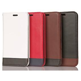 Недорогие Чехлы и кейсы для Galaxy S5 Mini-Кейс для Назначение SSamsung Galaxy S9 / S9 Plus / S8 Plus Бумажник для карт / Защита от удара / со стендом Чехол Геометрический рисунок Твердый Настоящая кожа