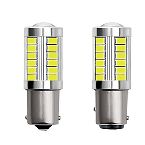 voordelige Auto-achterverlichting-2 stks 1156 ba15s 1157 bay15d auto led-lampen 4 w 12 v smd 5730 33 led knipperlichten achterlichten remlichten stop lichten