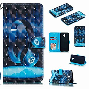 voordelige Galaxy J5(2017) Hoesjes / covers-hoesje Voor Samsung Galaxy J7 (2017) / J7 (2018) / J6 (2018) Portemonnee / Kaarthouder / Schokbestendig Volledig hoesje Cartoon Hard PU-nahka