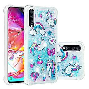 voordelige Galaxy A3(2016) Hoesjes / covers-hoesje Voor Samsung Galaxy A6 (2018) / A6+ (2018) / Galaxy A7(2018) Schokbestendig / Stromende vloeistof / Transparant Achterkant dier / Glitterglans Zacht TPU