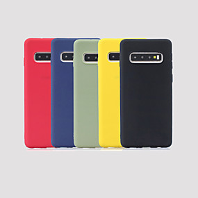 halpa Galaxy S8 kotelot / kuoret-Etui Käyttötarkoitus Samsung Galaxy Galaxy S10 Plus / Galaxy S10 E Himmeä Takakuori Yhtenäinen Pehmeä TPU varten S9 / S9 Plus / S8 Plus