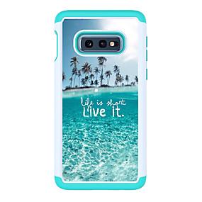 voordelige Galaxy S7 Hoesjes / covers-hoesje Voor Samsung Galaxy S9 / S9 Plus / S8 Plus Patroon Achterkant Woord / tekst Hard PC