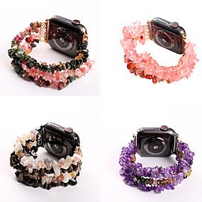 abordables Offres Quotidiennes-Bande smartwatch en pierre originale à quatre rangées pour bracelet montre iWatch 4/3/2/1 de la série Apple